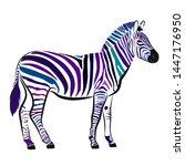 zebra. silhouette of horse with ... | Shutterstock .eps vector #1447176950