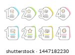 web call  star and verified... | Shutterstock .eps vector #1447182230