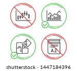do or stop. candlestick graph ... | Shutterstock .eps vector #1447184396