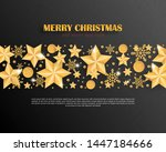 merry christmas and happy new... | Shutterstock .eps vector #1447184666
