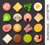 food icon set | Shutterstock .eps vector #144718798