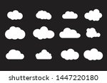 set of cloud icons vector... | Shutterstock .eps vector #1447220180