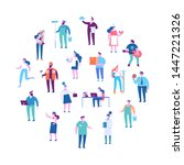 people of different occupations.... | Shutterstock .eps vector #1447221326
