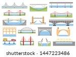 Types Of Bridges Set. Color...