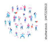 birthday party  celebration ... | Shutterstock .eps vector #1447225013