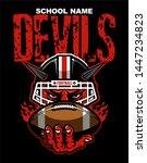 devils football mascot wearing... | Shutterstock .eps vector #1447234823