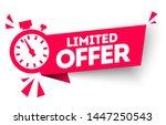 modern red vector banner ribbon ... | Shutterstock .eps vector #1447250543
