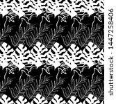 seamless pattern tropical...   Shutterstock . vector #1447258406