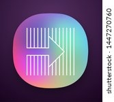 arrow on striped backdrop app...
