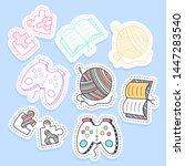 set of hobby different element... | Shutterstock .eps vector #1447283540