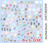 mega set of different element... | Shutterstock .eps vector #1447283549
