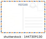 vector classic postcard with... | Shutterstock .eps vector #1447309130