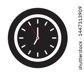 clock icon in flat style on...