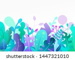 cartoon abstract landscape with ... | Shutterstock .eps vector #1447321010