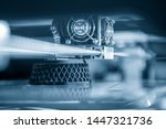 the 3d printing machine... | Shutterstock . vector #1447321736