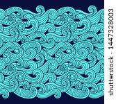 seamless abstract pattern.... | Shutterstock .eps vector #1447328003