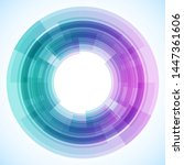 geometric frame from circles ... | Shutterstock .eps vector #1447361606