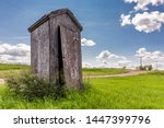 Old Wooden Outhouse On The...