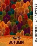 autumn design with autumn... | Shutterstock .eps vector #1447399913