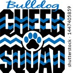 bulldog cheer squad with... | Shutterstock .eps vector #1447405859