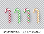 christmas realistic striped... | Shutterstock .eps vector #1447410260