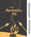 marshmallows roasting hand...   Shutterstock .eps vector #1447412360