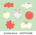 set of sale retro labels and... | Shutterstock .eps vector #144741268