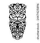 tattoo sketch maori style for... | Shutterstock .eps vector #1447425896