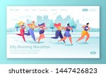healthy lifestyle concept for... | Shutterstock .eps vector #1447426823