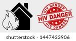 vector house fire damage...   Shutterstock .eps vector #1447433906