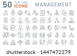 set of vector line icons of... | Shutterstock .eps vector #1447472279