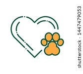 animal care color line icon....
