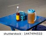 thai street food restaurant... | Shutterstock . vector #1447494533