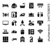 hotel flat vector icon set | Shutterstock .eps vector #1447508093