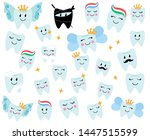 vector collection of happy... | Shutterstock .eps vector #1447515599