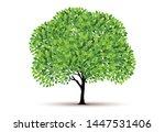 tree vector icon. logo design... | Shutterstock .eps vector #1447531406