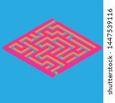 vector labyrinth. maze game... | Shutterstock .eps vector #1447539116