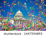 usa capitol in washington and...   Shutterstock . vector #1447554893