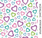 Lovely Colorful Hearts Pattern