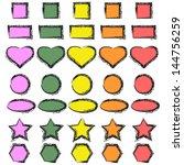 stickers set. | Shutterstock .eps vector #144756259