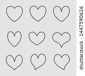heart line icons vector... | Shutterstock .eps vector #1447590626