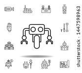 robotics wheel outline icon....