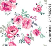 floral seamless pattern with... | Shutterstock .eps vector #1447602086