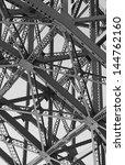 steel girders under a bridge... | Shutterstock . vector #144762160