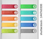 modern number list infographic... | Shutterstock .eps vector #144763330