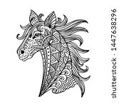 hand drawn horse with ethnic...   Shutterstock .eps vector #1447638296