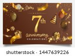 7th years anniversary design... | Shutterstock .eps vector #1447639226