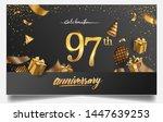 97th years anniversary design... | Shutterstock .eps vector #1447639253