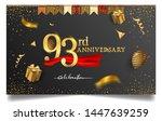 93rd years anniversary design... | Shutterstock .eps vector #1447639259
