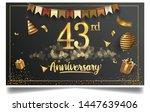 43rd years anniversary design... | Shutterstock .eps vector #1447639406